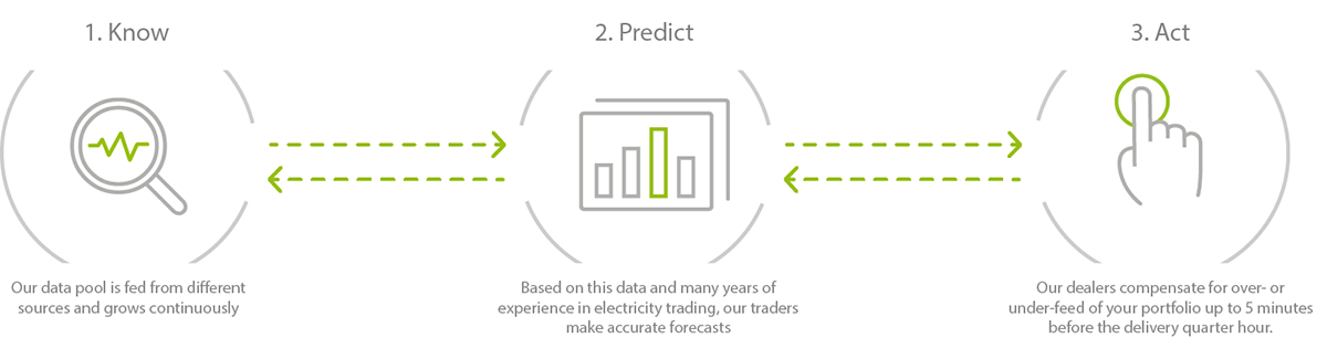 Electricity trading with a VPP
